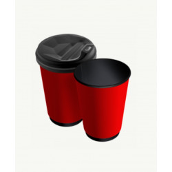 Стакан двошаровий Black & Red